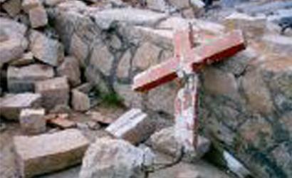 Broken Cross Christian Persecution